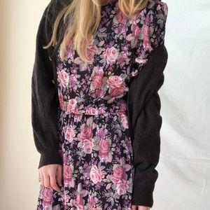 VINTAGE/ floral bloom midi dress